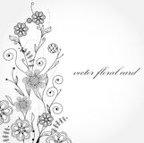 Cartão floral ilustração do vetor