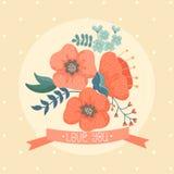 Cartão floral Foto de Stock Royalty Free