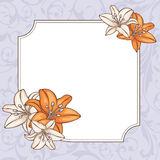 Cartão floral abstrato Fotos de Stock Royalty Free