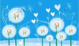 Cartão floral abstrato Imagem de Stock