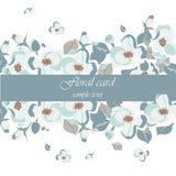 Cartão floral bonito do vintage Imagens de Stock