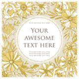 Cartão floral colorido Fotografia de Stock