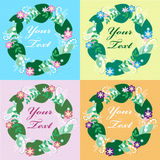Cartão floral colorido Fotos de Stock