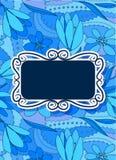 Cartão floral colorido com bandeira Imagens de Stock Royalty Free