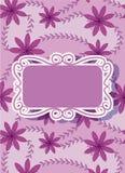 Cartão floral colorido com bandeira Imagens de Stock