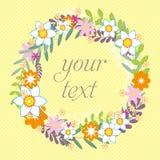 Cartão floral colorido Dia de mães feliz internacional com grupo de flores da mola o dia das mulheres Fundo do feriado beaut Imagem de Stock Royalty Free