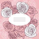 Cartão floral com rosas Imagens de Stock Royalty Free