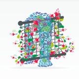 Cartão floral criativo abstrato ilustração do vetor