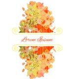 Cartão floral da aquarela Imagens de Stock Royalty Free