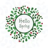 Cartão floral da mola Fotografia de Stock