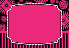 Cartão floral do convite Foto de Stock Royalty Free
