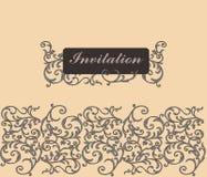 Cartão floral do convite Ilustração do Vetor