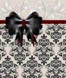 Cartão floral do damasco do casamento Imagem de Stock Royalty Free
