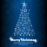 Cartão floral do Feliz Natal ilustração stock