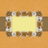 Cartão floral do scrapbook-estilo Imagem de Stock