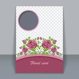 Cartão floral do vetor, convite para o projeto Imagens de Stock Royalty Free