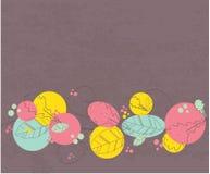 Cartão floral do vintage com flores violetas ilustração stock