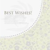 Cartão floral dos cumprimentos. ilustração royalty free