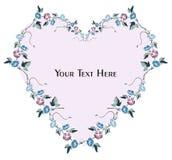 Cartão floral e convite ilustração stock