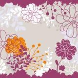 Cartão floral encantador ilustração stock