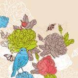 Cartão floral encantador ilustração royalty free