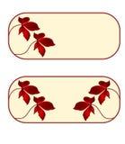 Cartão, - floral, - retângulo, - -grupo-de-sete Imagem de Stock Royalty Free