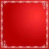 Cartão floral vermelho ilustração do vetor