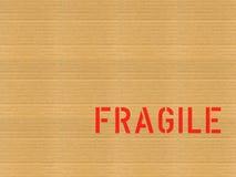 Cartão/frágil Fotos de Stock Royalty Free