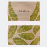 Cartão frente e verso para cosméticos naturais Imagem de Stock Royalty Free
