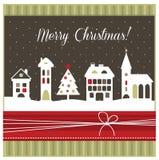 Cartão geeting do Natal foto de stock