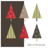 Cartão geeting do Natal imagem de stock