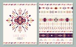 Cartão geométrico asteca Imagem de Stock Royalty Free