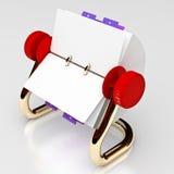 Cartão giratório vermelho 02 Fotos de Stock