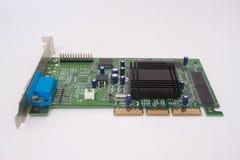 Cartão gráfico para o computador pessoal Isolado no fundo branco Fotos de Stock Royalty Free