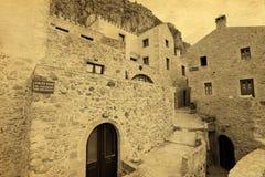 Cartão grego tradicional do vintage da rua Imagem de Stock Royalty Free