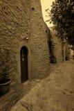 Cartão grego tradicional do vintage da rua Foto de Stock