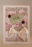 Cartão Handmade Imagens de Stock Royalty Free