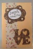 Cartão Handmade foto de stock
