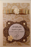 Cartão Handmade Fotos de Stock Royalty Free