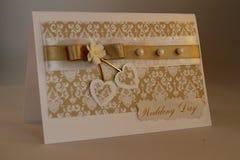 Cartão Handmade fotos de stock
