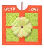 Cartão Handmade imagens de stock
