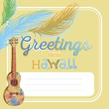 Cartão havaiano ilustração royalty free