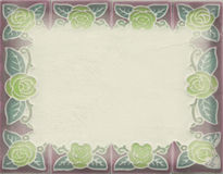 Cartão horizontal do quadro Fotografia de Stock