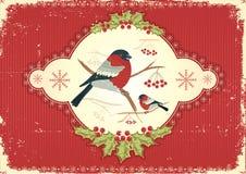 Cartão. Imagem do Natal do vintage ilustração royalty free