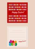 Cartão imprimível easter Foto de Stock