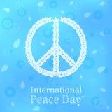 Cartão internacional do dia da paz, cartaz, fundo Fotografia de Stock
