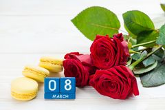 Cartão internacional do dia do ` s das mulheres Imagem de Stock Royalty Free