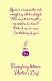 Cartão interurbano feliz do dia de Valentim Foto de Stock