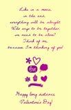 Cartão interurbano feliz do dia de Valentim Imagem de Stock