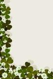 Cartão irlandês da sorte Foto de Stock